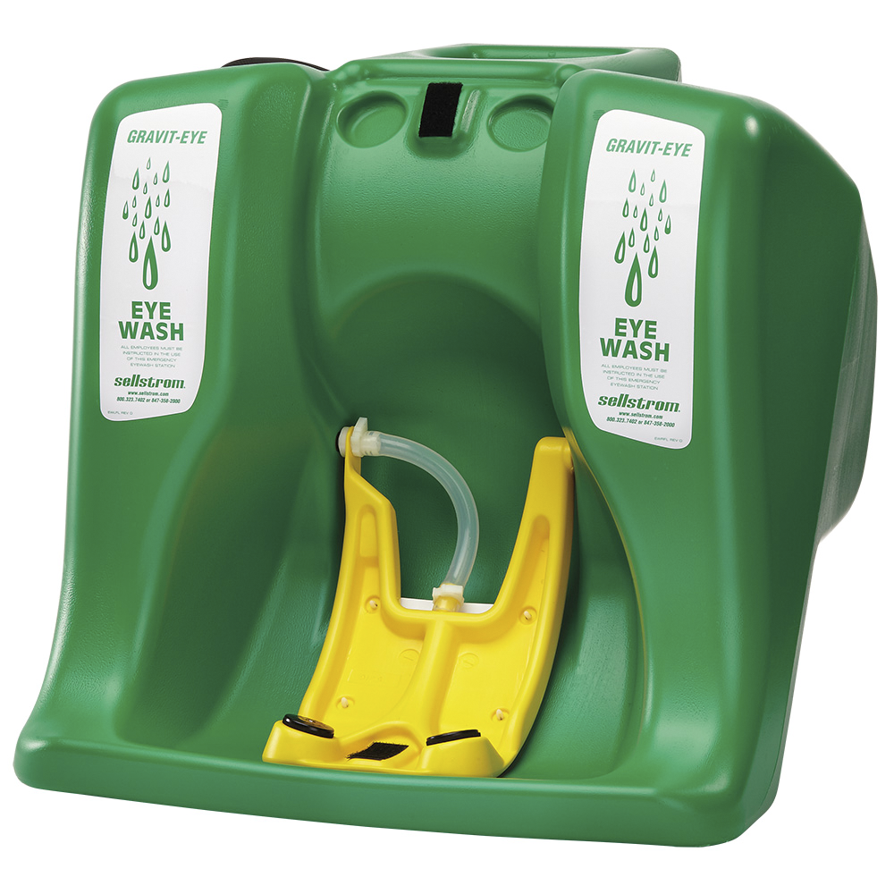 Eyewash Station - Sellstrom 16-Gallon Gravit-Eye™ Portable S90320 - Hansler.com