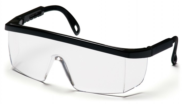 Protective Glasses - Pyramex Integra Clear Lens with Black Frame SB410S - Hansler.com