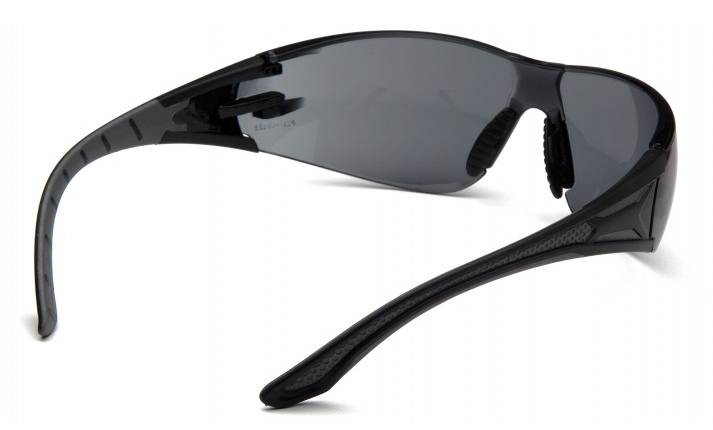 Protective Glasses - Pyramex Endeavor Plus Gray H2X Anti-Fog Lens with Black and Gray Temples SBG9620ST - Hansler.com