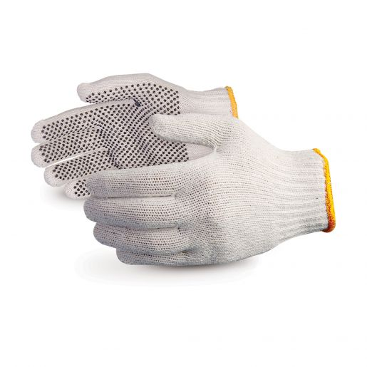 Glove - General Purpose - Superior Glove Sure Grip Extra Heavyweight Nylon/PVC Dotted Palm, Cotton/Polyester SCPD - Hansler.com