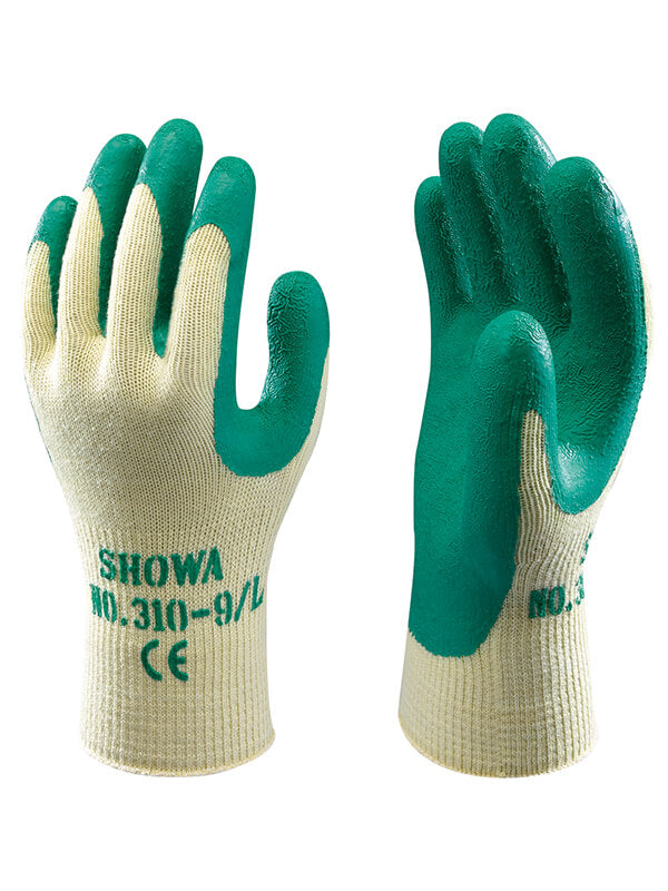 Glove - General Purpose - Showa 310 Green Palm Coated - Hansler.com