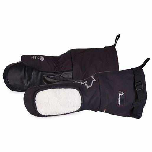 Glove - Winter - Superior Glove SnowForce Deluxe Mitt Grain Cowhide Leather/Nylon Removable Fleece/Thinsulate SNOWD200 - Hansler.com