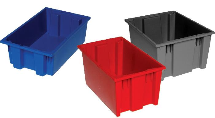 Storage Bin - Quantum Storage Genuine Stack and Nest Tote - Hansler.com