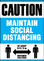 Sign - Ketchum Caution Maintain Social Distancing 10