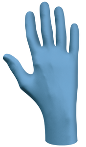 "Glove - Disposable - Showa 100% Food Compliant Blue Nitrile 4 Mil 9.5"" 7500PF - Hansler.com"