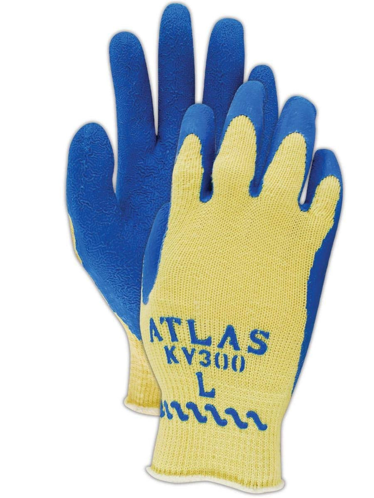 Glove - Cut Resistant - Showa KV300L Atlas Kevlar with Latex Palm Coating - Hansler.com