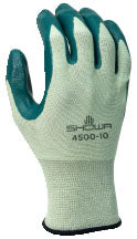 Glove - General Purpose - Showa 4500 Palm Coated Nitrile - Hansler.com