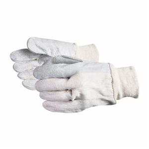 Glove - General Purpose - Superior Glove Economy Grade Cotton/Shoulder Split Leather Clute Cut/Index Finger Style 630Ki - Hansler.com