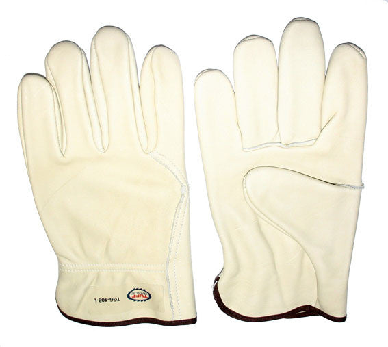 Glove - Work - Tuff Grade Grain Leather Driver, Unlined Wing Thumb* - Hansler.com