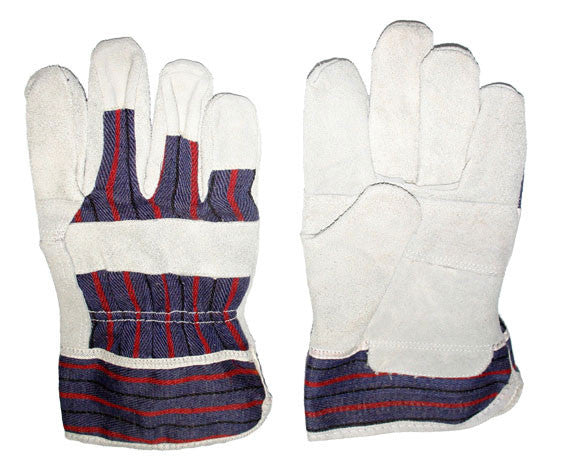 Glove - Work - Tuff Grade Cowhide Split Leather Fitter with Patch Palm TGG-416-L - Hansler.com