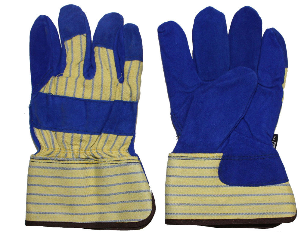 Glove - Work - Winter - Tuff Grade Cowhide Split Blue Leather Fitter, 100 g Thinsulate* TGG-512 - Hansler.com