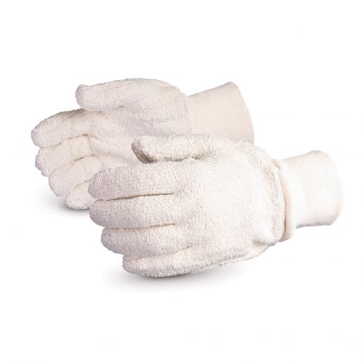 Glove - Specialty - Heat Resistant - Superior Glove Cool Grip Protex/Terrycloth Loop-Out/Seamless Style 3 Inch Cuff TRK3 - Hansler.com
