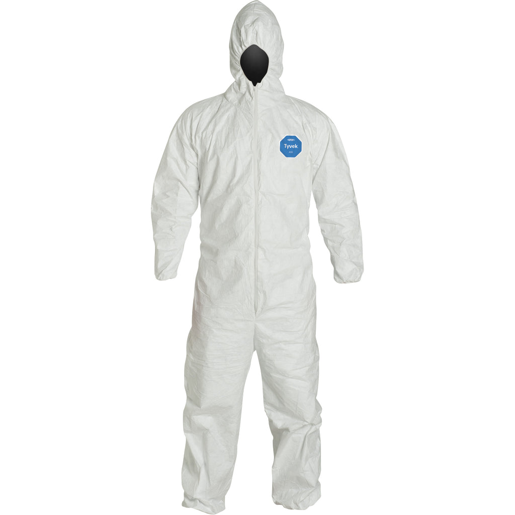 Coveralls - DuPont Tyvek 400 Hooded White (Case of 25) TY127S - Hansler.com