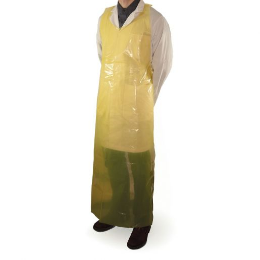 Apron - Superior Glove Disposable Heavy Duty Polyethylene 61 in Length 37 in Width A4YPD6137 - Hansler.com