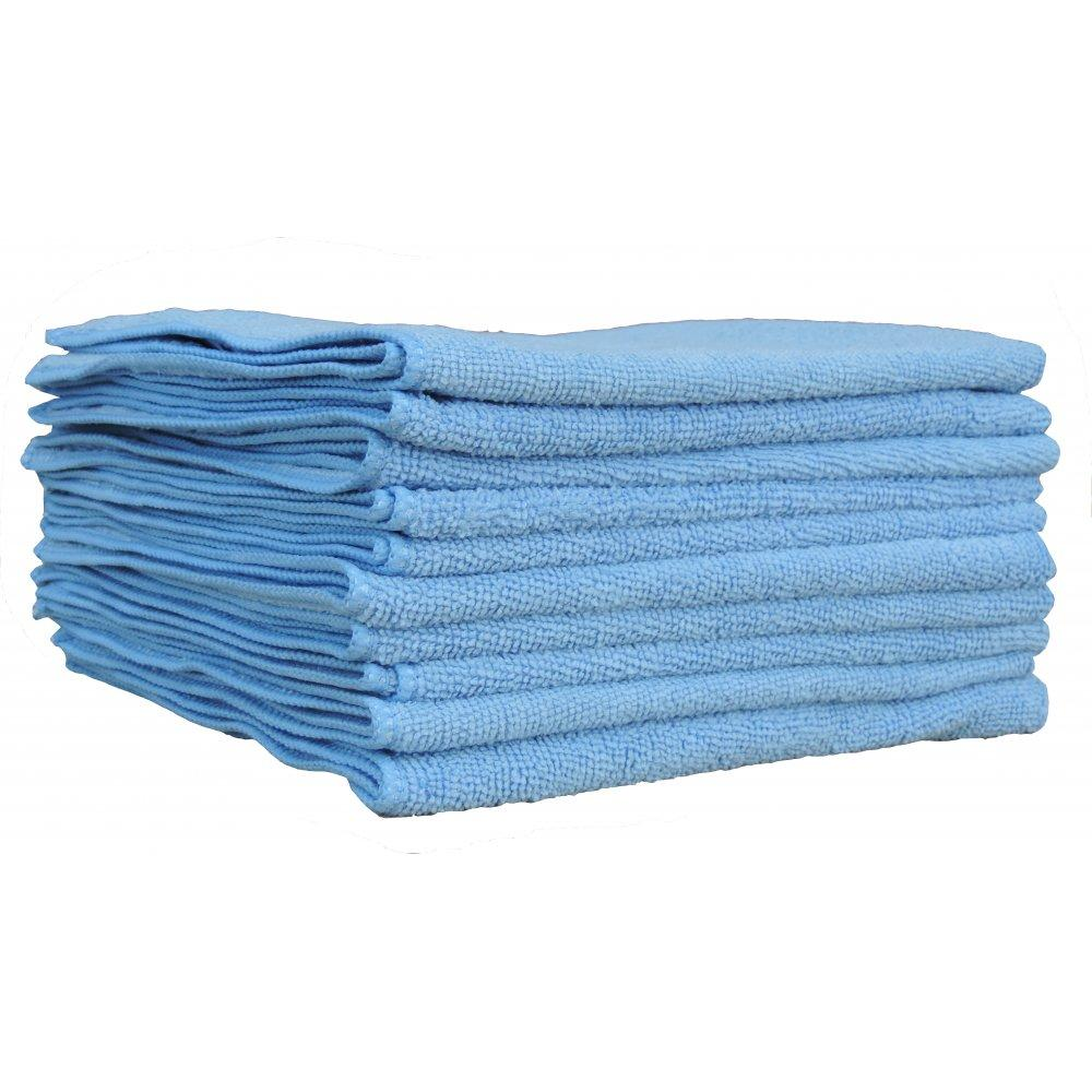 Cleaning Cloths - DC Blue Microfiber, 15 x 15* - Hansler.com