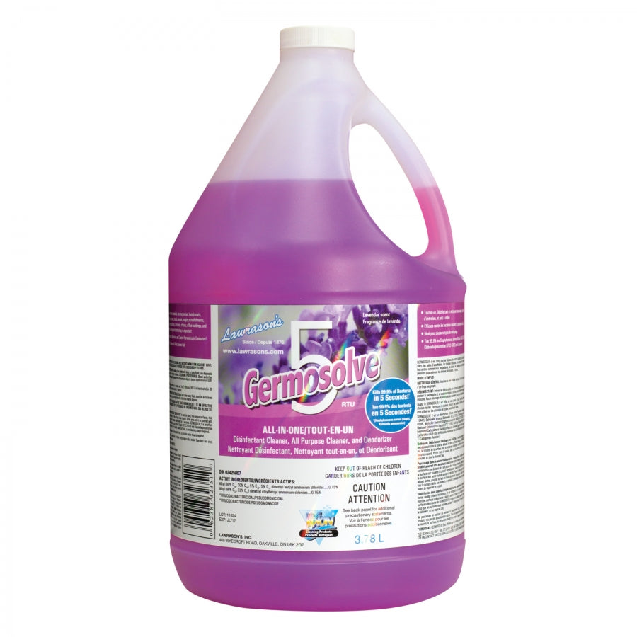 General Purpose Cleaner - Lawrason's Vision Germosolve 5 Disinfectant Cleaner & Deodorizer, 946 mL or 3.78 L - Hansler.com