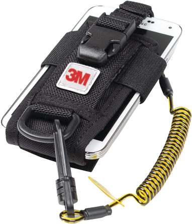 Fall Arrest Holster - 3M DBI-SALA Adjustable Radio/Cell Phone Holster with Clip2Loop Coil and Micro D-Ring 1500089 - Hansler.com