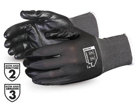 Glove - General Purpose - Superior Glove Dexterity 15-Gauge Nitrile Palm Nylon Knit SN15NT - Hansler.com