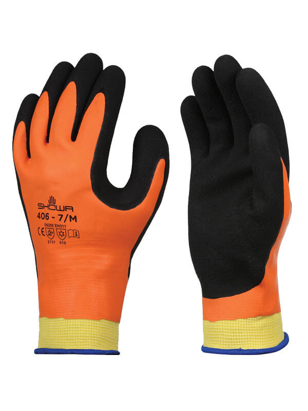 Glove - Cut Resistant - Showa 406 Double-Layer Latex Coated Knit* 406 - Hansler.com