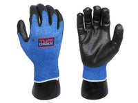 GLOVE - CUT RESISTANT - TUFF GRADE FOAM NITRILE, PU-COATED PALMS, LEVEL 4 CUT RESISTANT - Hansler.com