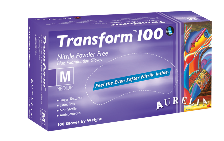 Glove - Disposable - Aurelia Transform 100 Nitrile Powder-Free* - Hansler.com