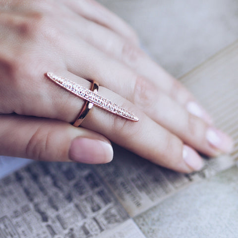 AB1002 - Lykke Modern Rose Gold Ring Design
