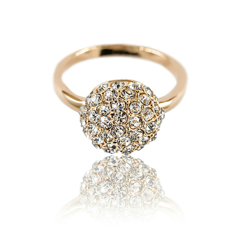 Aurum Mod studded half sphere yellow gold-plated ring