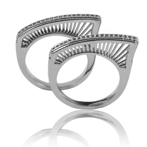 AB1003 - Lumturi Modern Jewelry Design White Gold Ring