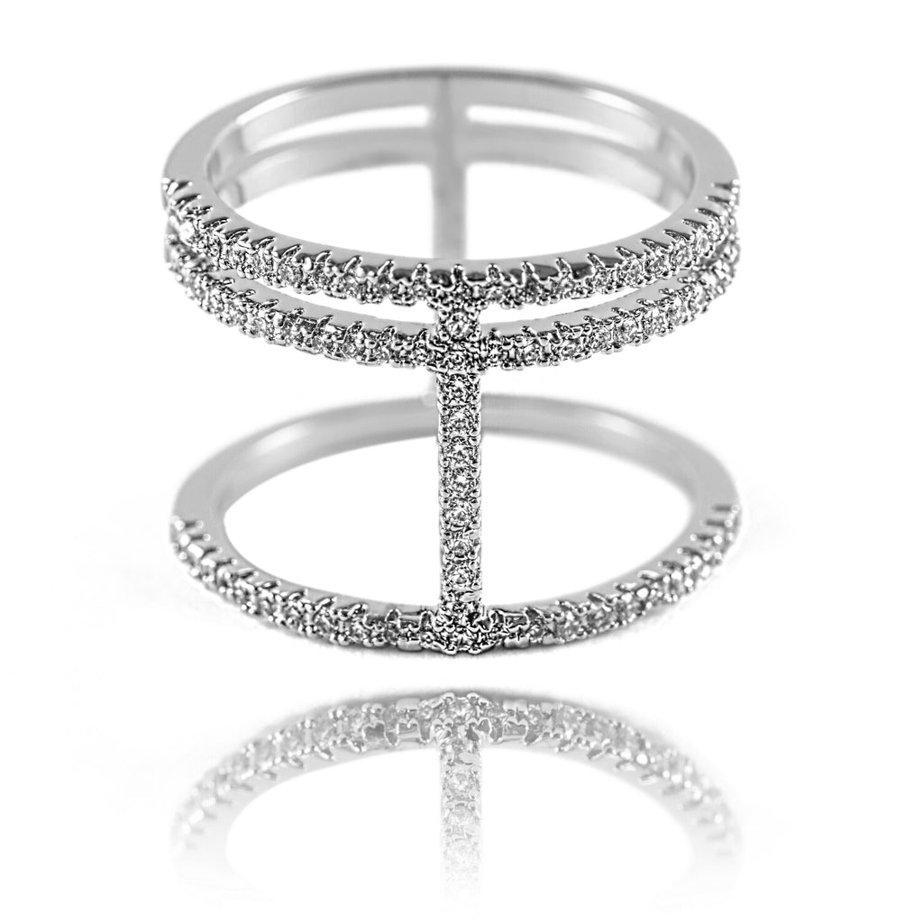 AB1005 - Orom Modern White Gold Ring Design
