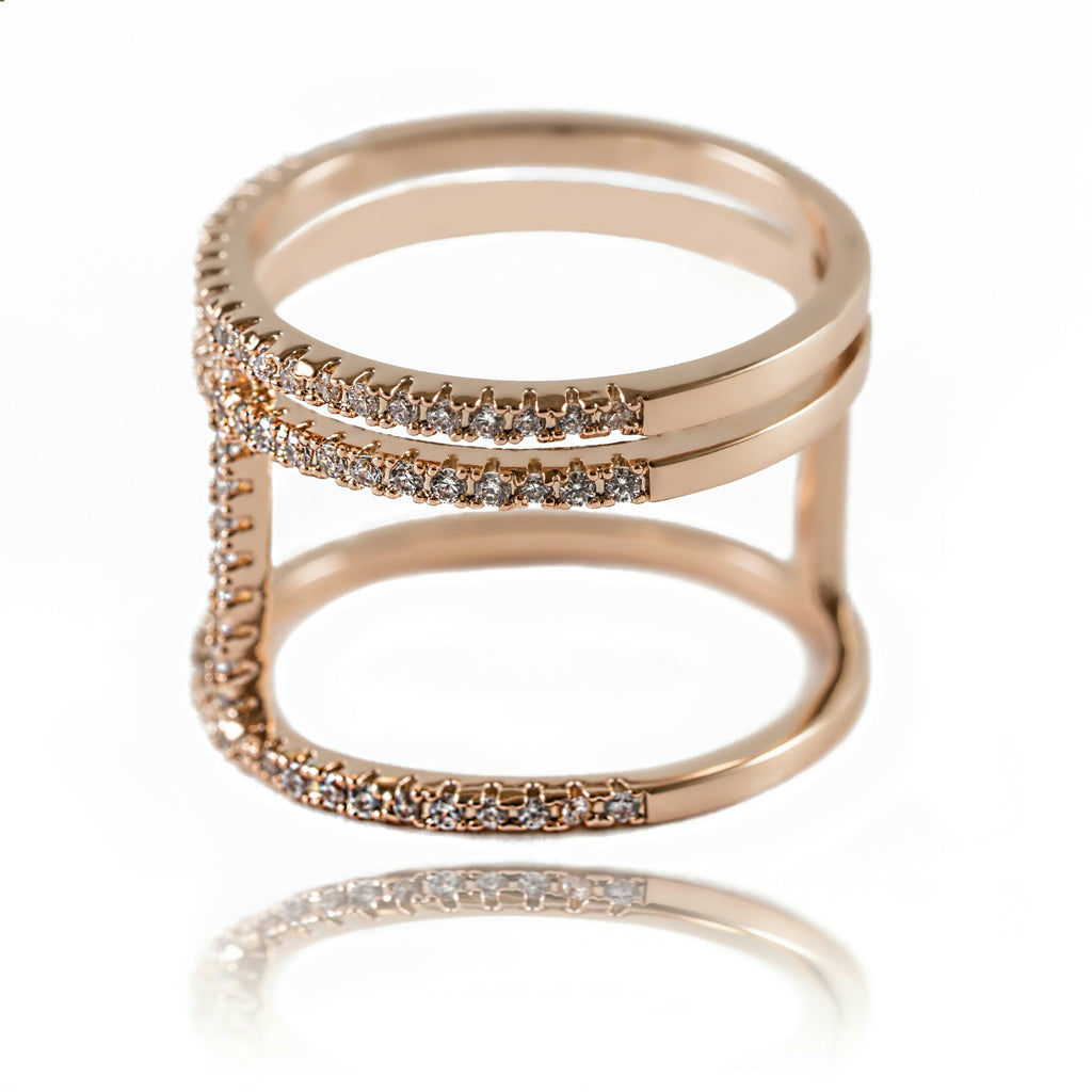 AB1005 - Orom Modern Rose Gold Ring Design