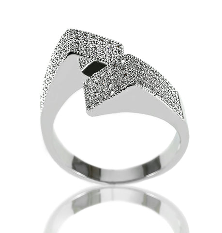 AB1007 - Radost Modern White Gold Ring Design
