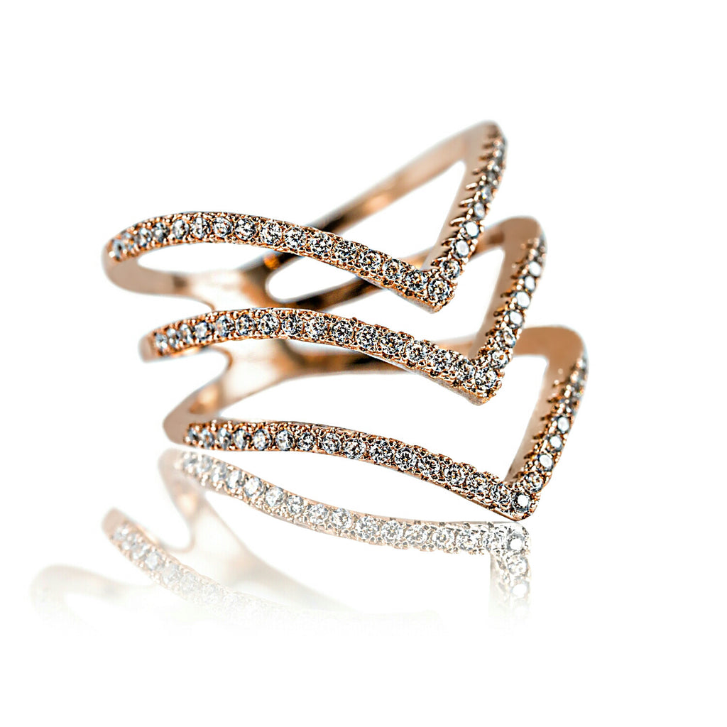 AB1008 - Gioia Modern Rose Gold Ring Design