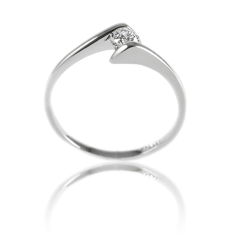 Aurum Mod white gold-plated simple ring design