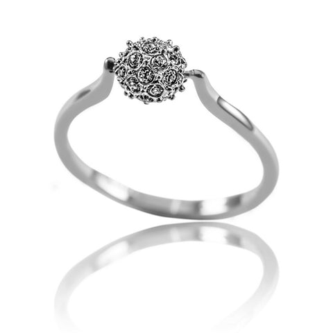 AB1012 - Salang Modern Jewelry Design White Gold Ring