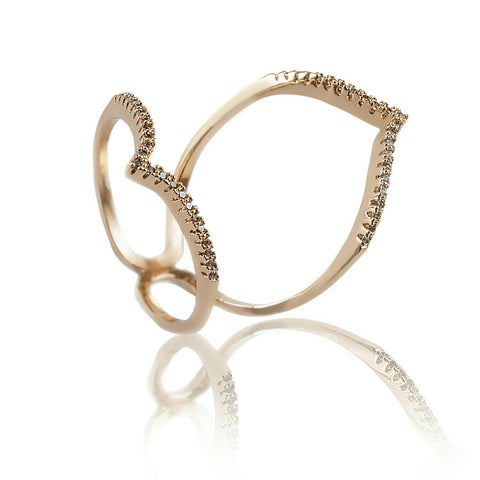 AB1013 - Sirel Modern Rose Gold Ring Design