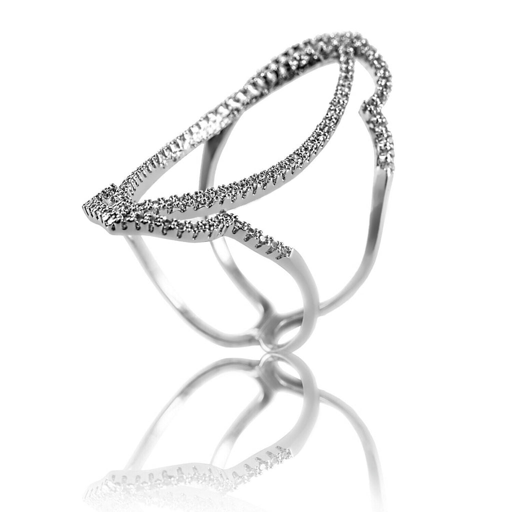 AB1015 - Amare White Gold Modern Ring Design