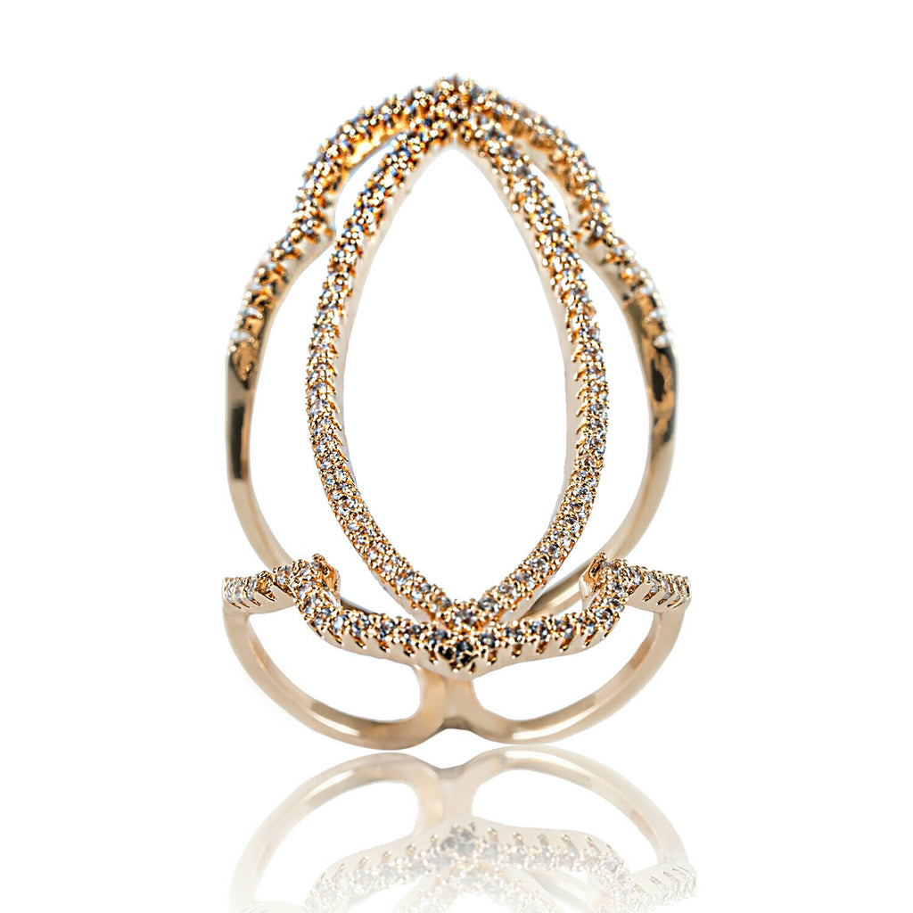 AB1015 - Amare Yellow Gold Modern Ring Design