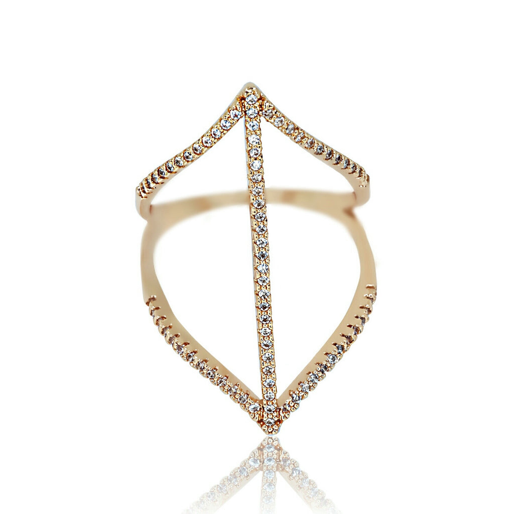 AB1016 - Lav Modern Rose Gold Ring Design