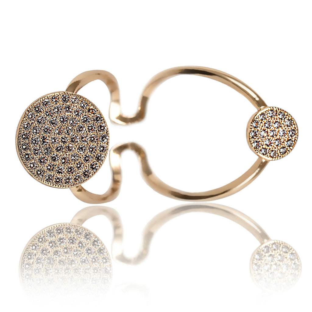 Aurum Mod yellow gold-plated studded ring