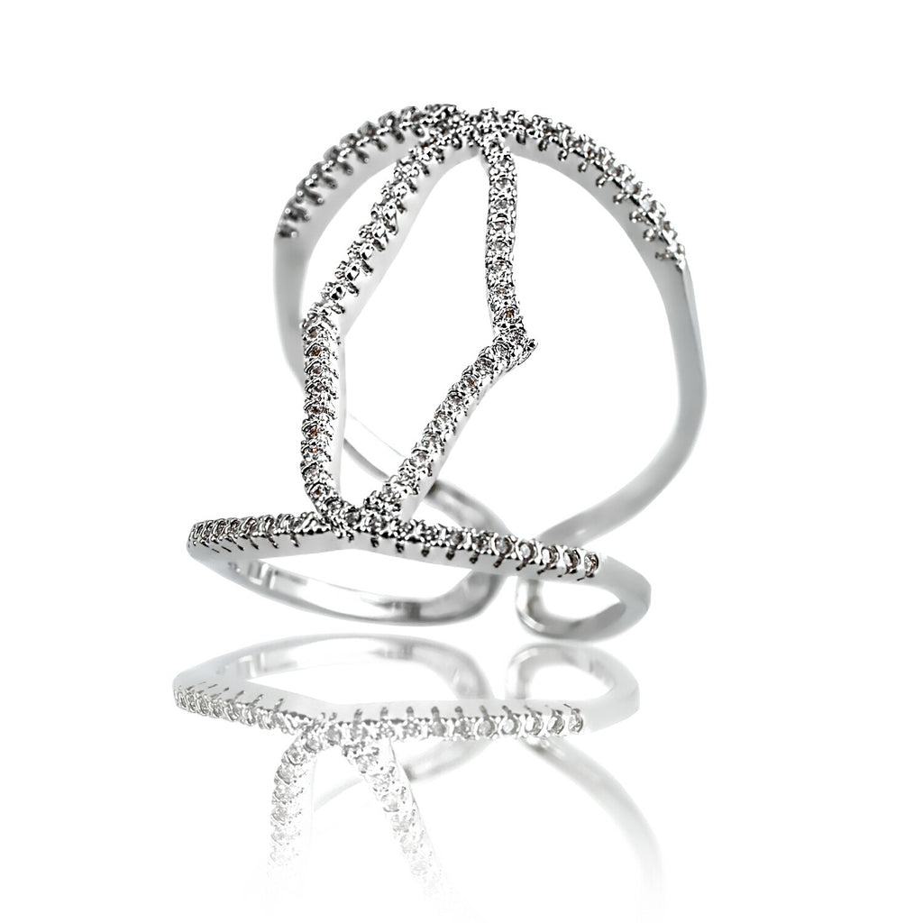AB1022 - Kush Modern White Gold Ring Design