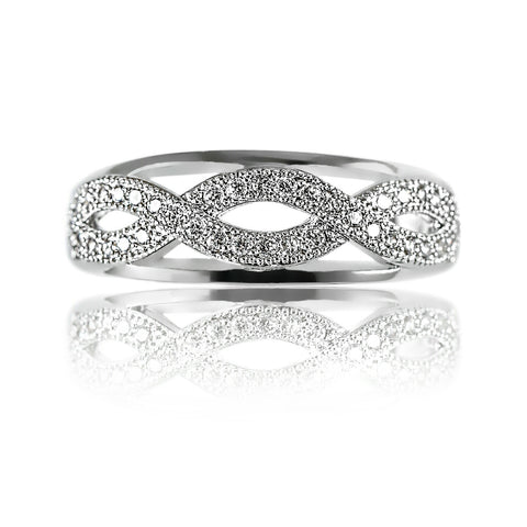 AB1025 - Smila Modern White Gold Ring Design