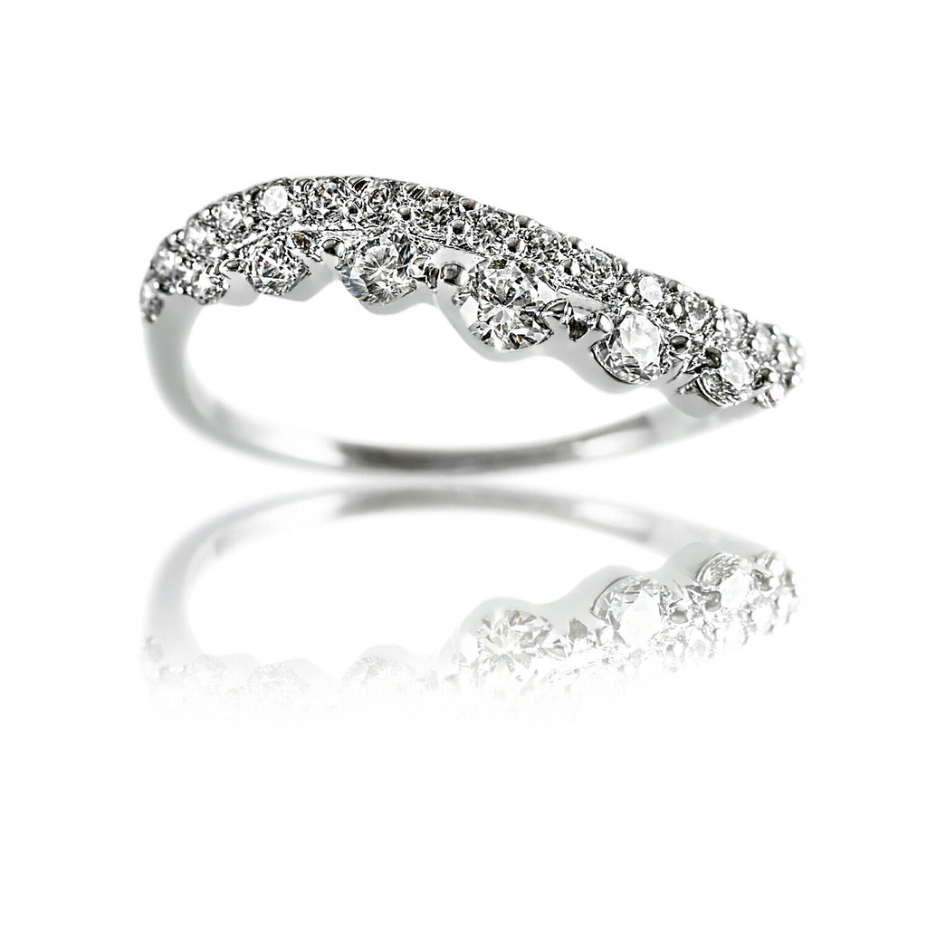 AB1026 - Naerma Modern White Gold Ring Design