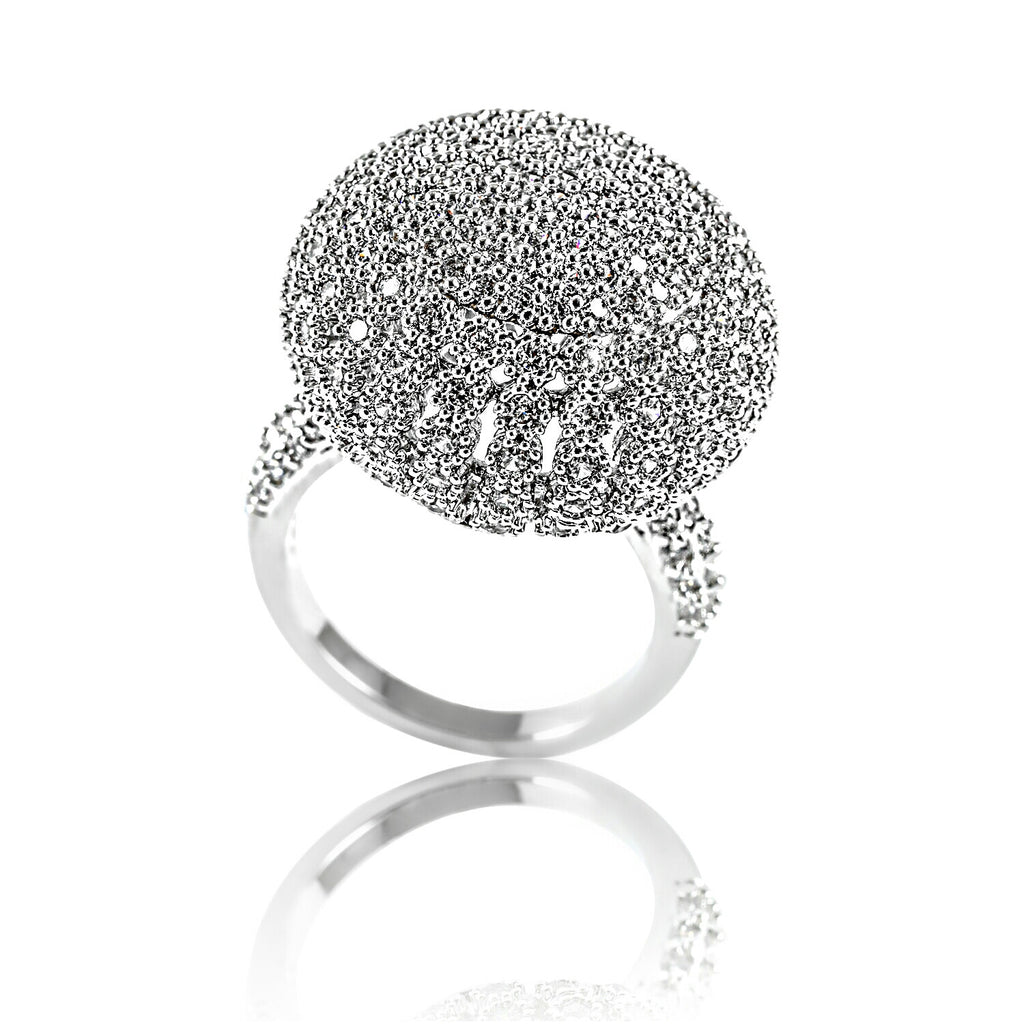 AB1028 - Lachen Modern White Gold Cocktail Ring Design