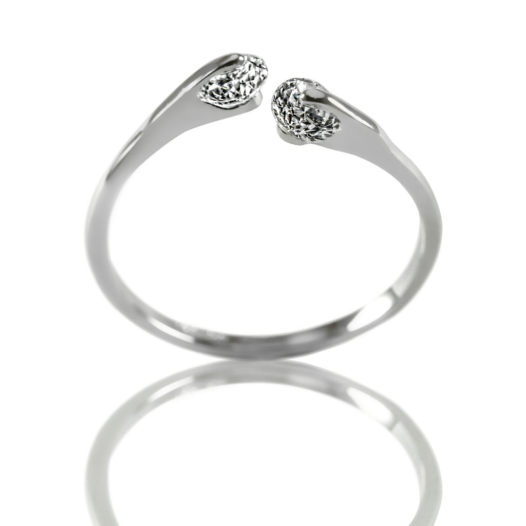 AB1030 - Sourire Modern Jewelry Design White Gold Ring