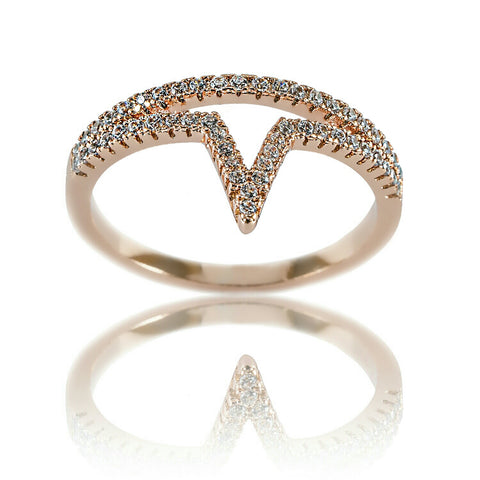 AB1031 - Svetlina Modern Jewelry Design Rose Gold Ring