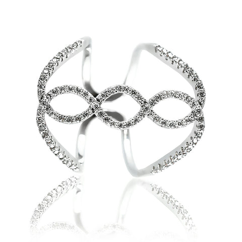 AB1033 - Modern Jewelry Design White Gold Ring