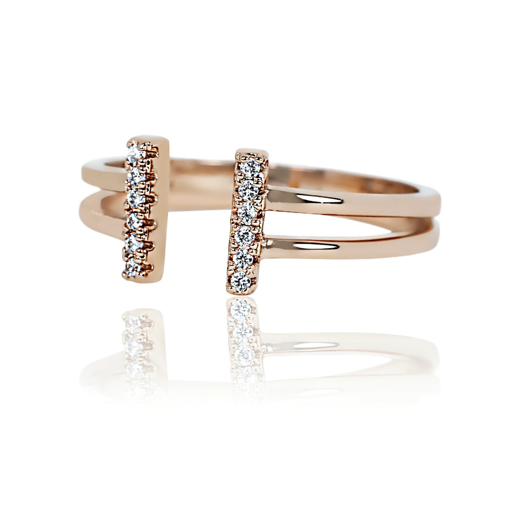 SORRISU STUDDED BARS RING
