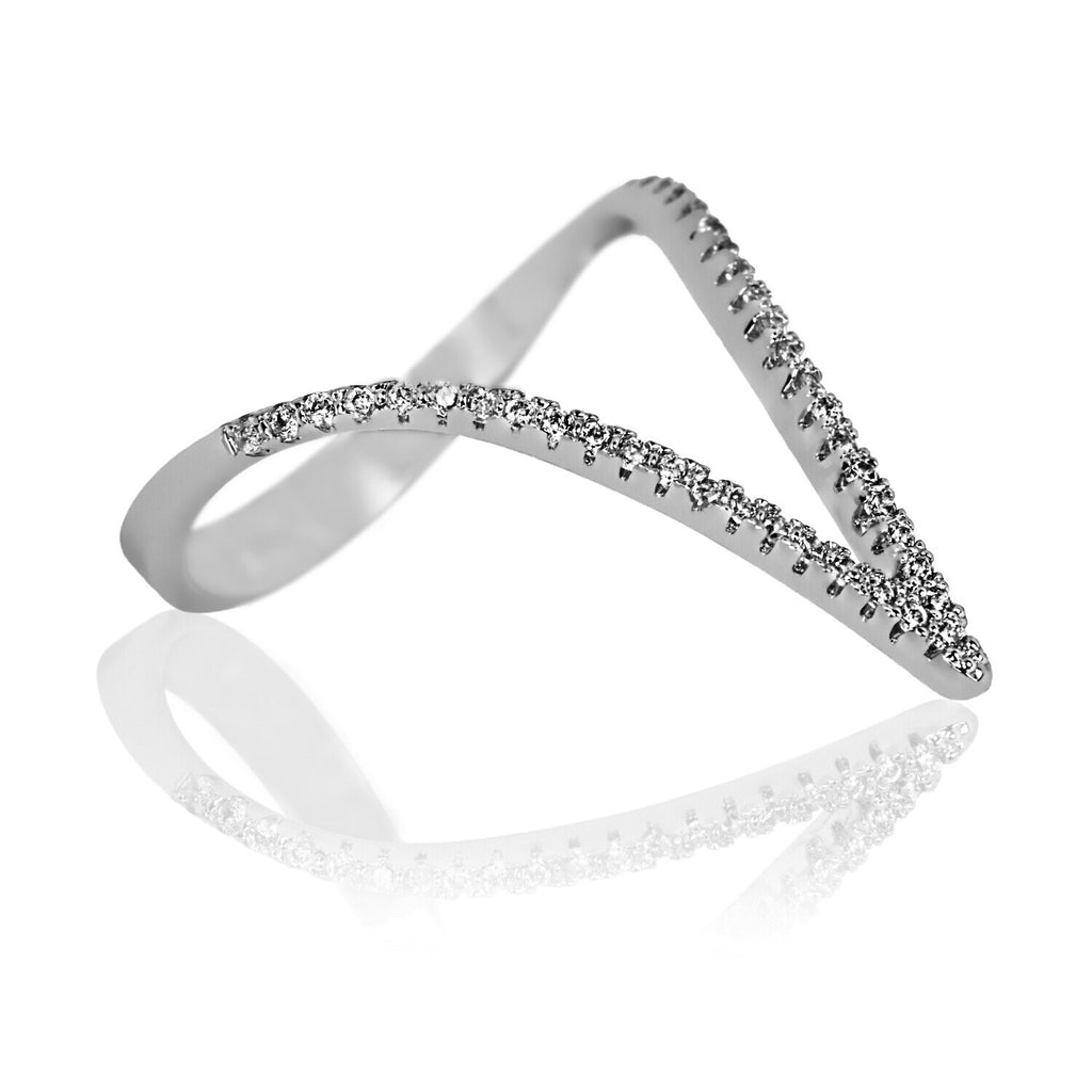 AB1039 - Hvala Modern White Gold Ring Design