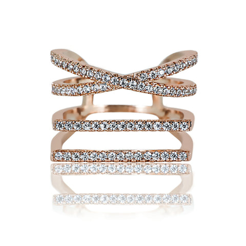 AB1042 - Daya Modern Rose Gold Ring Design