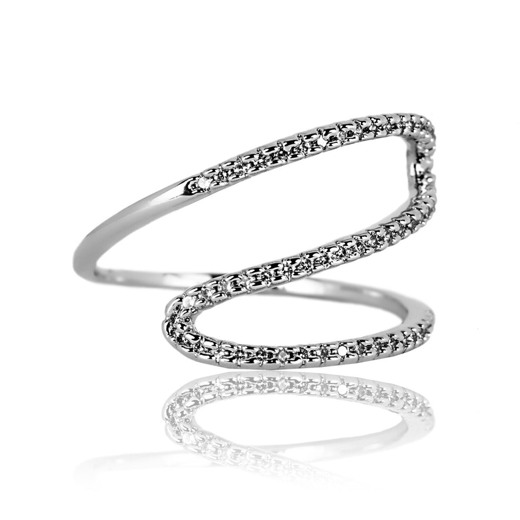 AB1044 - Wema Modern White Gold Ring Design